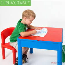 Play Table With Storage And Chairs Kids Activity Table Set 3 In 1 Water Table Craft Table And