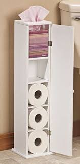 toilet paper stand toilet paper cabinet storage white wood bathroom tissue stand