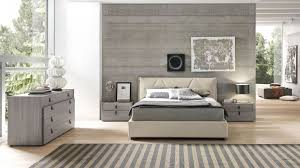 italian made full padded bed with leather handles on nightstands
