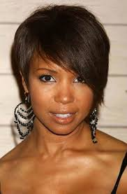 short hairstyles for round faces black women thin hair hairstyle