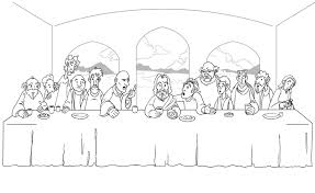 Last Supper Coloring Page By Theoriginaladam On Deviantart Last Supper Coloring Page