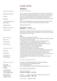 Sample Resume Waiter by Waiter Resume Sample Templates Waiter Resume New Calendar Template