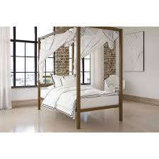 Gold Canopy Bed Dhp Modern Gold Canopy Bed Free Shipping Today Overstock