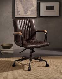 Leather Office Chair 17 Stories Demarest Genuine Leather Office Chair Reviews Wayfair