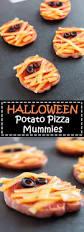 halloween potato pizza mummies vegetarian gastronomy