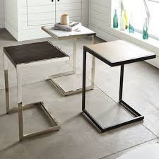 side table with laptop storage iron frame side table google search our home pinterest iron