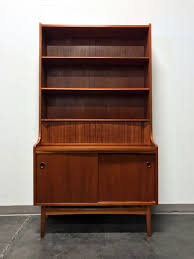 secretary desk with bookcase sold out danish mcm teak secretary desk bookcase by johannes sorth
