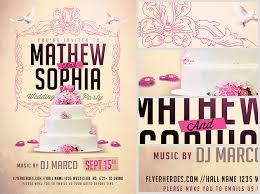 wedding flyer wedding flyer template 2 flyerheroes