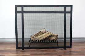 black fireplace screen binhminh decoration