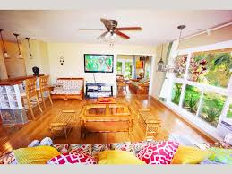 queen bath area decorated hawaiian style house with ac kayak