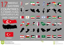 Middle East Countries Map Middle East Flags Map Image Gallery Hcpr