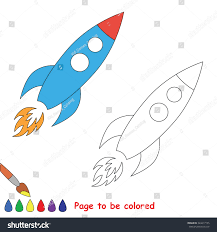 trace game toy rocket be colored stock vector 324417155 shutterstock
