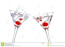 martinis cheers toast with two cocktail glasse stock photos image 2195383