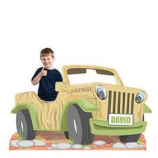 safari jeep front clipart our safari jeep photo standee has the look of a tan jeep with a