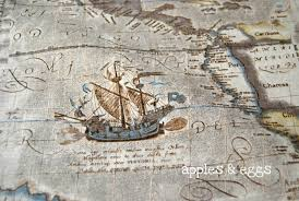 Vintage Map Wallpaper by Nautical Map Wallpaper Wallpapersafari