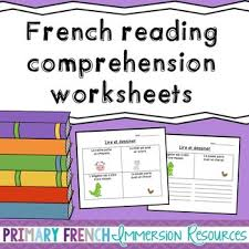 best ideas of french reading comprehension worksheets grade 6