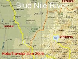 nile river on map blue nile river map my