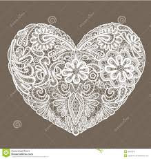 heart shaped doilies heart shape is made of lace doily element for val stock vector
