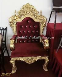 King And Queen Throne Chairs Wedding Imitated Wood Armrest Throne Chairs Buy High Quality