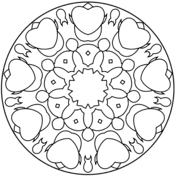 abstract mandalas coloring pages free coloring pages
