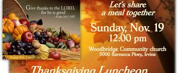 thanksgiving luncheon woodbridge community church