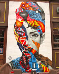 modern mural audrey hepburn mural by tristan eaton the worley gig