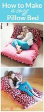 How To Make A House Cozy How To Make A Cozy Pillow Bed Beginner Sewing Projects Pillow