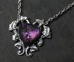 purple heart necklace images Purple heart necklace tophatter jpg