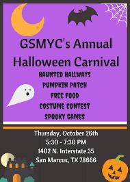 gsmyc u0027s annual halloween carnival oct 26 2017