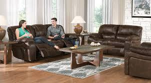 cindy crawford home alpen ridge reclining sofa cindy crawford home alpen ridge brown 5 pc living room with