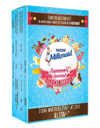 nestle milkmaid ice cream kit contains milkmaid 400gm 1 plastic