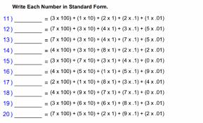 expanded form worksheets 4th grade worksheets