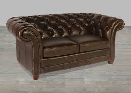 Leather Chesterfield Sofa For Sale by Brompton Chocolate Leather Victoria Collection Vintage Sofa