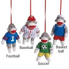 sock monkey company sports sock monkey ornament football