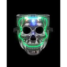 Led Halloween Costume Silver Light Led Smiling Skeleton Skull Mask Halloween Costume
