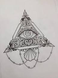 small eye pyramid and owl tattoos on chest photo 2 photo