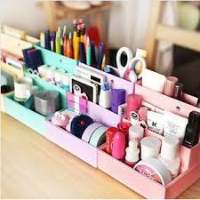 Desk Top Accessories Kawaii Stationery Holder Paper Diy Desktop Theme Storage Box Desk