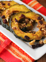 maple roasted acorn squash rings citronlimette