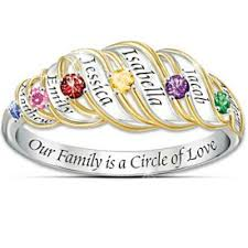 mothers ring with names s day jewelry personalized jewelry she ll