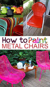 best 25 painting metal chairs ideas on pinterest old metal