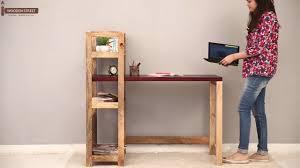 michelle study desk bookshelf mahogany finish youtube