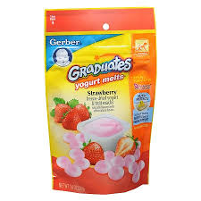 graduates snacks gerber graduates yogurt melts strawberry walgreens