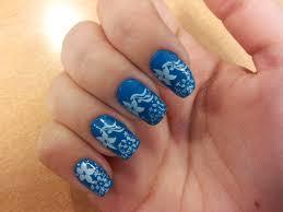 imagenes de uñas decoradas con konad diseño de uñas con esmalte azul uñas a mil
