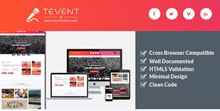tevent event conference u0026 meetup html template by themexlab