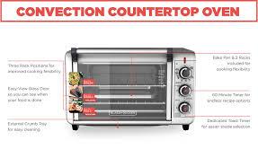 Easy Clean Toaster Black Decker 6 Slice Convection Countertop Toaster Oven Silver