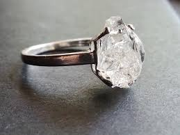 natural diamond rings images Raw diamond ring engagement ring rough diamond by avello jpg