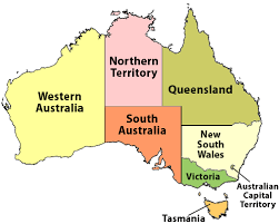 territories of australia map map of australia by state major tourist attractions maps