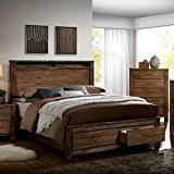 amazon com pioneer country style weathered elm finish king size 6