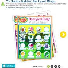 yo gabba gabba memory matching game printables cute favor