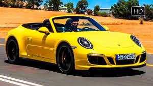 yellow porsche 911 2018 porsche 911 carrera 4 gts cabrio racing yellow design